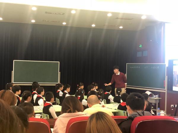 2018年,陈浩在上上海市新秀工程展现课。