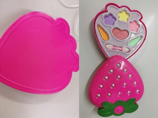 儿童彩妆盒,包装没有任何申明信息。