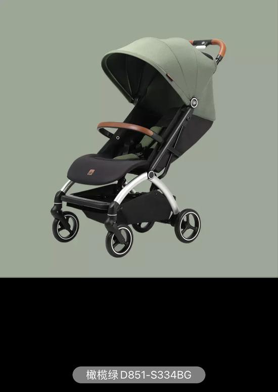 杜密斯采办的婴儿车图片及型号。受访者供图